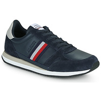 Skor Herr Sneakers Tommy Hilfiger RUNNER LO LEATHER STRIPES Marin