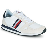 Skor Herr Sneakers Tommy Hilfiger RUNNER LO LEATHER STRIPES Vit