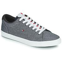 Skor Herr Sneakers Tommy Hilfiger ESSENTIAL CHAMBRAY VULCANIZED Grå