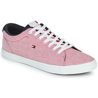 Skor Herr Sneakers Tommy Hilfiger ESSENTIAL CHAMBRAY VULCANIZED Rosa