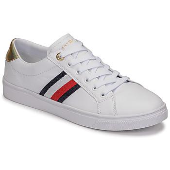 Skor Dam Sneakers Tommy Hilfiger TH CORPORATE CUPSOLE SNEAKER Vit