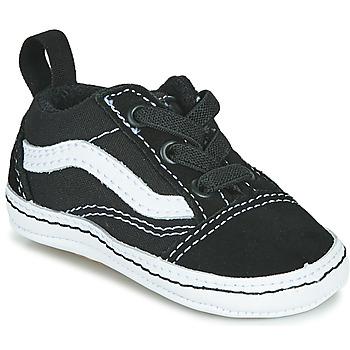 Skor Barn Sneakers Vans OLD SKOOL CRIB Svart / Vit