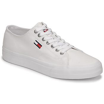 Skor Herr Sneakers Tommy Jeans LONG LACE UP VULC Vit