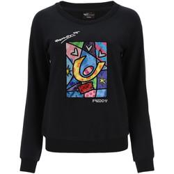 textil Dam Sweatshirts Freddy F0WBRS4 Svart