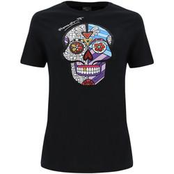 textil Dam T-shirts & Pikétröjor Freddy F0WBRT2 Svart