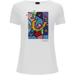 textil Dam T-shirts & Pikétröjor Freddy F0WBRT1 Vit