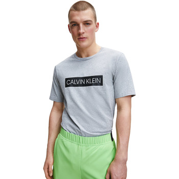 textil Herr T-shirts & Pikétröjor Calvin Klein Jeans 00GMT0K119 Grå