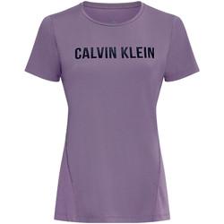 textil Dam T-shirts & Pikétröjor Calvin Klein Jeans 00GWS0K195 Violett