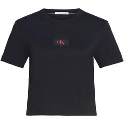 textil Dam T-shirts & Pikétröjor Calvin Klein Jeans J20J214148 Svart