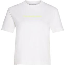 textil Dam T-shirts & Pikétröjor Calvin Klein Jeans J20J214220 Vit