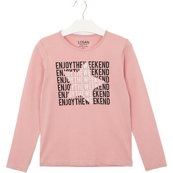 textil Barn T-shirts & Pikétröjor Losan 024-1631AL Rosa