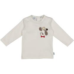 textil Barn T-shirts & Pikétröjor Melby 20C2150 Vit