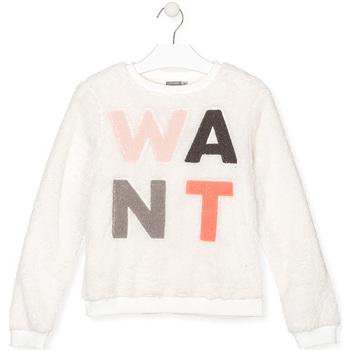 textil Barn Sweatshirts Losan 024-6021AL Vit