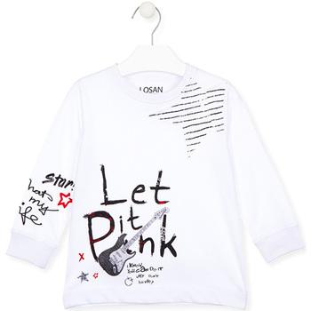 textil Barn T-shirts & Pikétröjor Losan 025-1000AL Vit