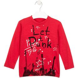 textil Barn T-shirts & Pikétröjor Losan 025-1001AL Röd
