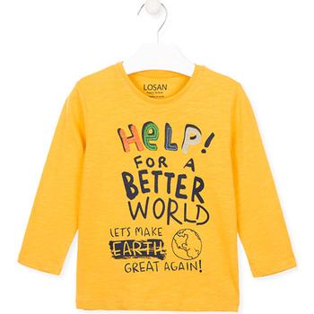 textil Barn T-shirts & Pikétröjor Losan 025-1005AL Gul