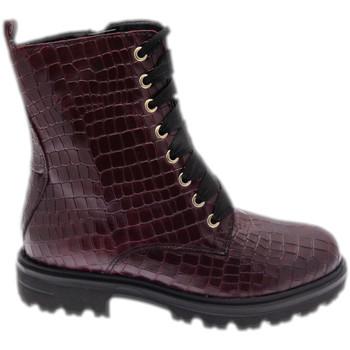 Skor Dam Boots Calzaturificio Loren LOC3918bor rosso
