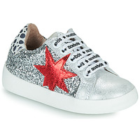 Skor Flickor Sneakers Acebo's 5461GL-PLATA-J Silver