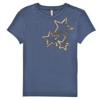 textil Flickor T-shirts Only KONMOULINS STAR Blå