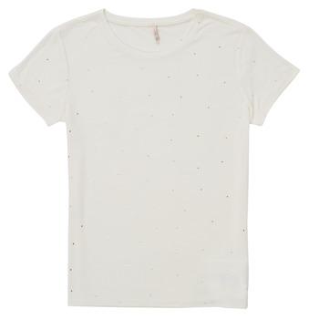 textil Flickor T-shirts Only KONMOULINS Vit