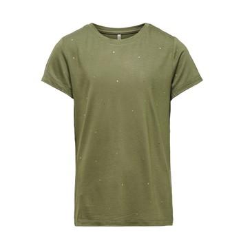 textil Flickor T-shirts Only KONMOULINS Kaki