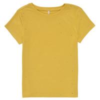 textil Flickor T-shirts Only KONMOULINS Gul