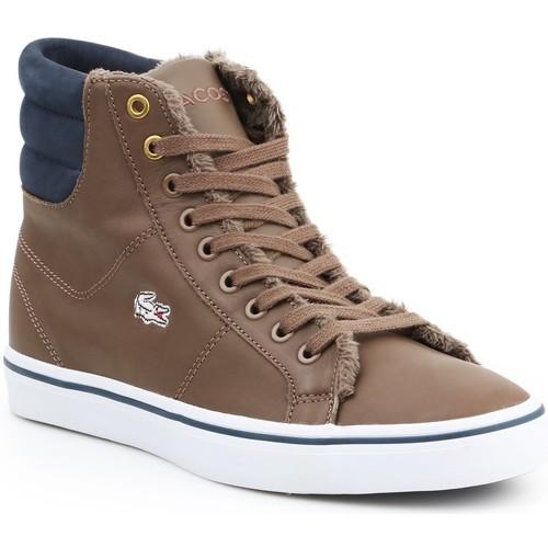 Skor Dam Höga sneakers Lacoste Marcel MID PWT DK 7-26SPW4118DK4 brown, navy