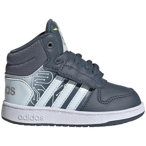 Skor Barn Höga sneakers adidas Originals Hoops Mid 20 I Vit, Grafit