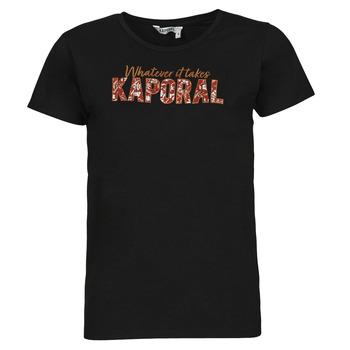 textil Dam T-shirts Kaporal PENIN Svart