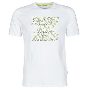 textil Herr T-shirts Kaporal DARIN Vit