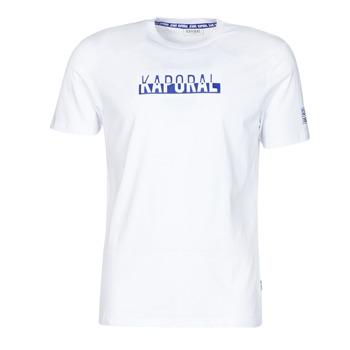 textil Herr T-shirts Kaporal DINO Vit