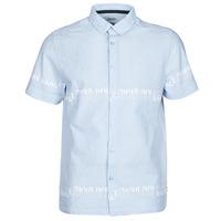 textil Herr Kortärmade skjortor Kaporal STEVE Blå