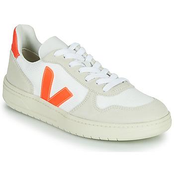 Skor Sneakers Veja V-10 Vit / Orange