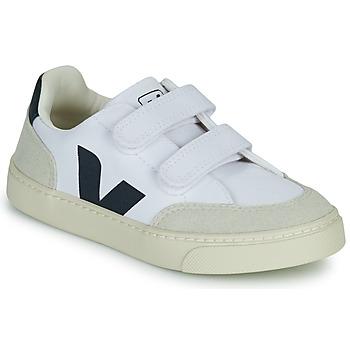 Skor Pojkar Sneakers Veja SMALL V-12 VELCRO Vit / Blå