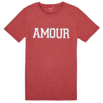 textil Flickor T-shirts Name it NKFTHULIPPA Röd
