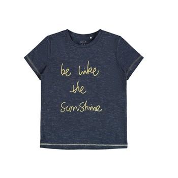 textil Flickor T-shirts Name it NKFDEVIRA Marin