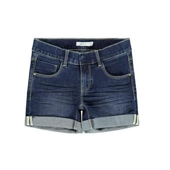 textil Flickor Shorts / Bermudas Name it NKFSALLI Blå