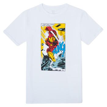 textil Pojkar T-shirts Name it MARVEL Vit