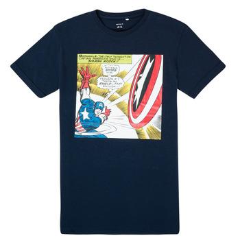 textil Pojkar T-shirts Name it MARVEL Marin