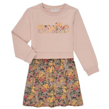 textil Flickor Korta klänningar Name it NMFBADA Grå