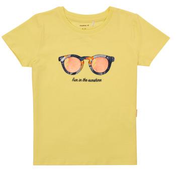 textil Flickor T-shirts Name it NMFFISUMMER Gul