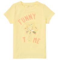 textil Flickor T-shirts Name it NMFFEFA Gul