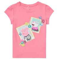 textil Flickor T-shirts Name it PEPPAPIG Rosa