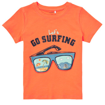 textil Pojkar T-shirts Name it NMMFANO Orange