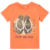 textil Pojkar T-shirts Name it NMMFASHO Orange