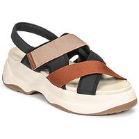 Skor Dam Sandaler Vagabond Shoemakers ESSY Vit / Rostfärgad / Svart