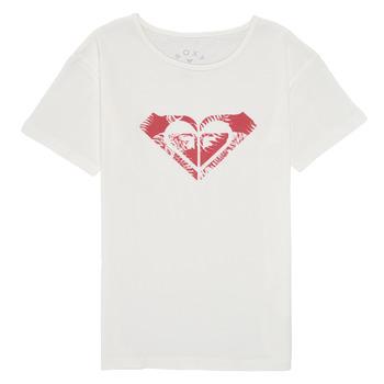textil Flickor T-shirts Roxy DAY AND NIGHT PRINT Vit