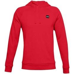 textil Herr Sweatshirts Under Armour Rival Fleece Hoodie Röda