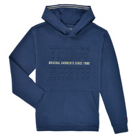 textil Pojkar Sweatshirts Teddy Smith S-RUN HOODY Marin