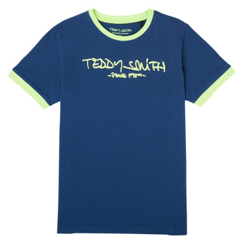 textil Pojkar T-shirts Teddy Smith TICLASS 3 Marin